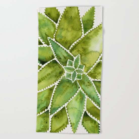 Aloe Vera – Green Palette Beach Towel