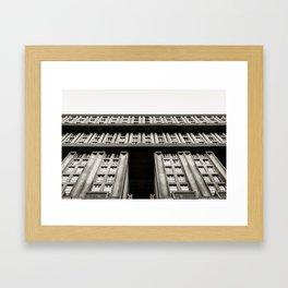 Facade of a monumental residential building I Framed Art Print