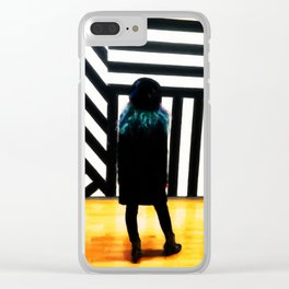 The Muse at the Museum Clear iPhone Case