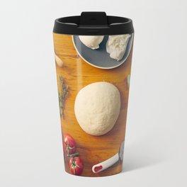 Ingredients for making pizza Travel Mug