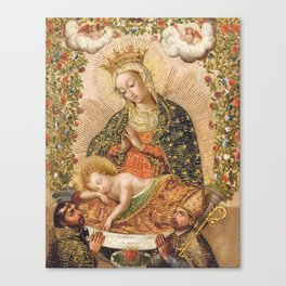 The Virgin Adoring the Christ Child with Two Saints Canvas Print