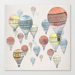 Voyages Hot Air Balloons Canvas Print