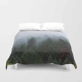 Into the Deep, Foggy, Forest Duvet Cover
