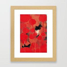 Ma rose à moi Framed Art Print