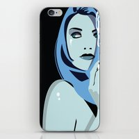 cigarettes iPhone & iPod Skins featuring Genevieve & Cigarettes  by Andrew Formosa