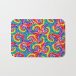 Tie-Dye Hexagon Colorful Pattern Bath Mat