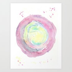Watercolor world Art Print