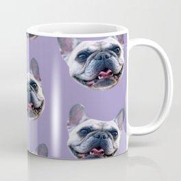 light purple dog pattern cute puppy french bulldog Coffee Mug