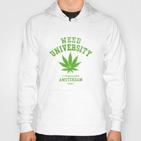 weed Hoodies featuring Weed University by Nxolab