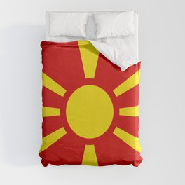 National flag of Macedonia - authentic version Duvet Cover