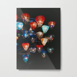 Lanterns in the Night Market, Hoi An, Vietnam 2 Metal Print