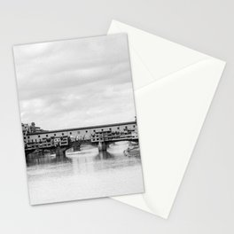 Old Bridge in Florence B&W Stationery Cards