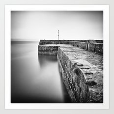 Empty harbour Art Print