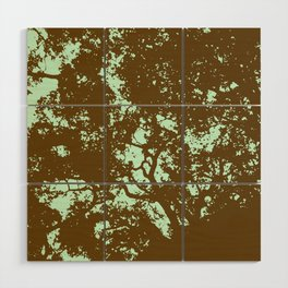 Mint and Brown Forest Wood Wall Art