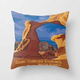 Vintage poster - Grand Staircase-Escalante Throw Pillow