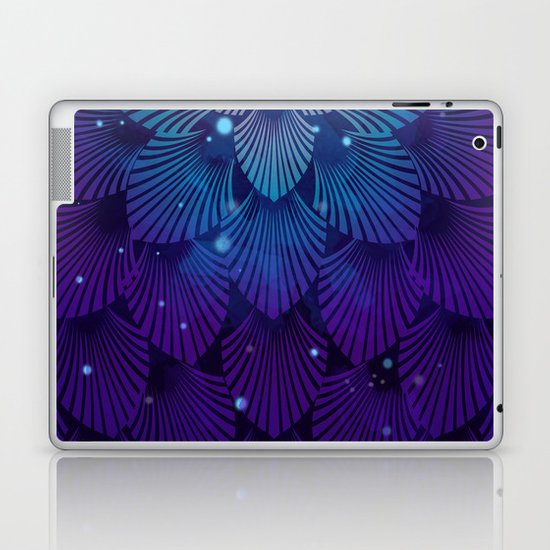 Variations on a Feather III - Raven Wing Deconstructed Laptop & iPad Skin