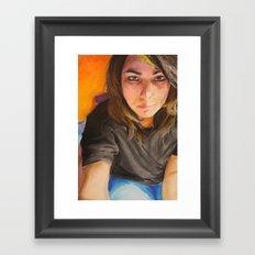 Morning Portrait (Pika) Framed Art Print