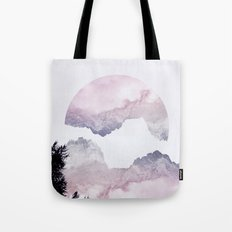 Pink Mountains Tote Bag