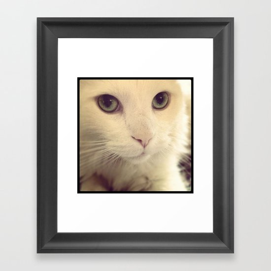 pretty eyes Framed Art Print