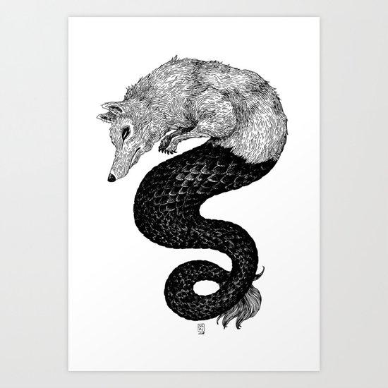 Loup de mer Art Print