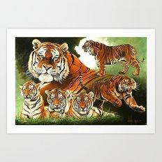 Siberian Tiger Montage Art Print