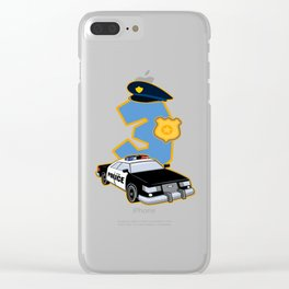 3rd Birthday Police 3 Years Officer Costume Gift Clear iPhone Case
