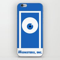 monsters inc iPhone & iPod Skins featuring Monsters, inc. by Citron Vert
