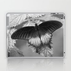 Butterfly - Black and White Laptop & iPad Skin