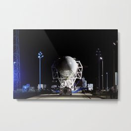 he SpaceX Falcon 9 rocket makes its way to the pad at Space Launch Complex-40 on Cape Canaveral Air Metal Print