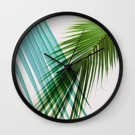 Palm Leaf, Botanical Leaves Wall Clock