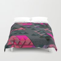 the thing Duvet Covers featuring One Thing by Bakmann Art