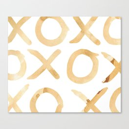 XOXO in Coffee Canvas Print