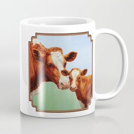 Guernsey Cow and Cute Calf Coffee Mug