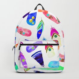 Candy Feather Pattern Backpack