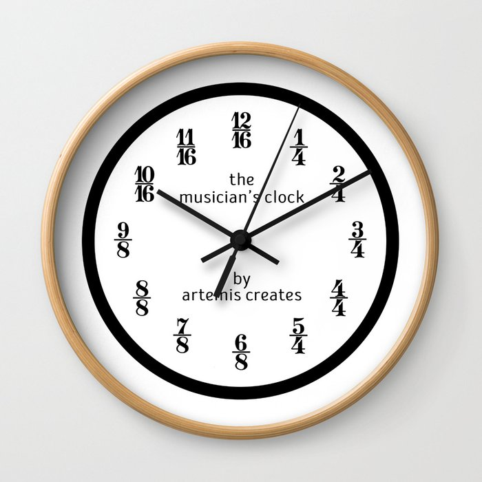 The Musician's Clock (Clock Only) Wall Clock