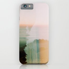 Moody Mountain Double Exposure - 35mm Film iPhone Case
