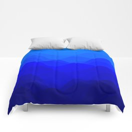 Blue Waves Comforters