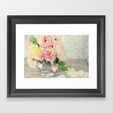 Still Life English Roses Framed Art Print