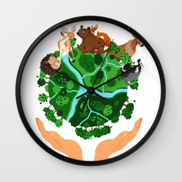 Climate Change Save The Planet Wall Clock