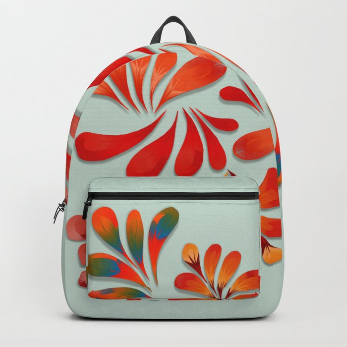 Floral Dance in Red Backpack
