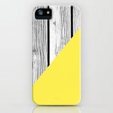Yellow vs Wood iPhone SE Slim Case