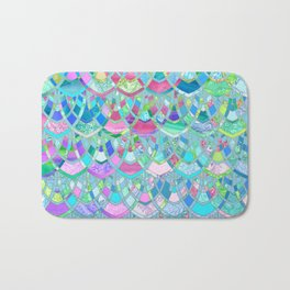 Art Deco Watercolor Patchwork Pattern 2 Bath Mat