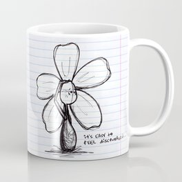 """Easily Discouraged"" Flowerkid Coffee Mug"