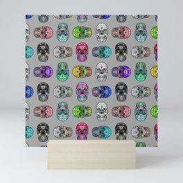 I love your Robotic Skull Heart on Grey Mini Art Print