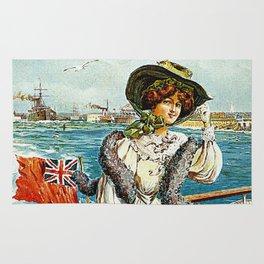 Vintage Southsea Portsmouth England Travel Rug