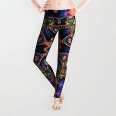 BBQSHOES: Kaleidoscopic Fractal Digital Art Design 1702K Leggings