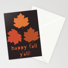 Falling maple leaves pattern Stationery Cards