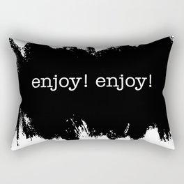 enjoy the puddles Rectangular Pillow
