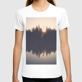 Wooded Lake Reflection  - Nature Photography T-shirt
