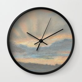 Sunset by Eugène Delacroix ca.1850, French Wall Clock